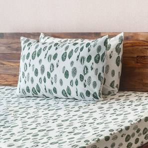 Bloomingdale Bedsheet Set (King Size, Calathea Pattern) by Urban Ladder