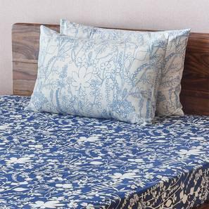 Botanical Blueprint Bedsheet Set (Double Size, Spring Pattern) by Urban Ladder