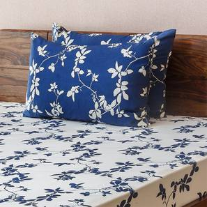 Botanical Blueprint Bedsheet Set (Double Size, Branch Pattern) by Urban Ladder