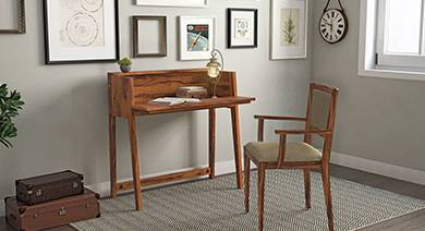 Solid wood study tables