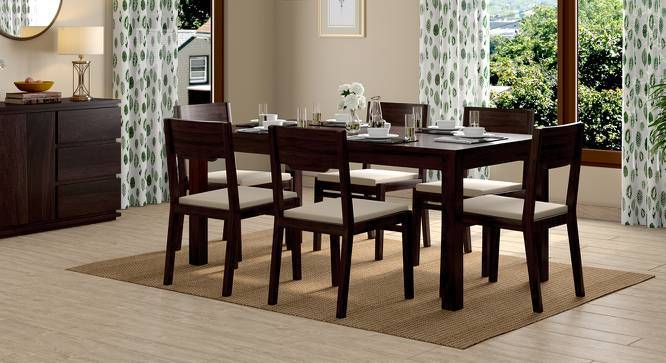 Arabia - Kerry XL 6 Seater Dining Table Set (Mahogany Finish, Wheat Brown) by Urban Ladder