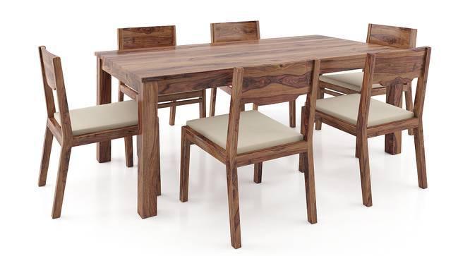 Arabia - Kerry XL 6 Seater Dining Table Set (Teak Finish, Wheat Brown) by Urban Ladder