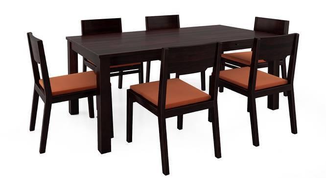Arabia - Kerry XL 6 Seater Storage Dining Table Set (Mahogany Finish, Burnt Orange) by Urban Ladder