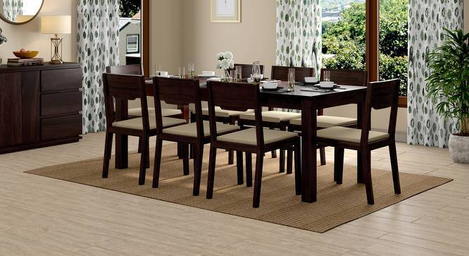 Arabia XXL - Kerry 8 Seater Dining Table Set (Mahogany Finish, Wheat Brown) by Urban Ladder