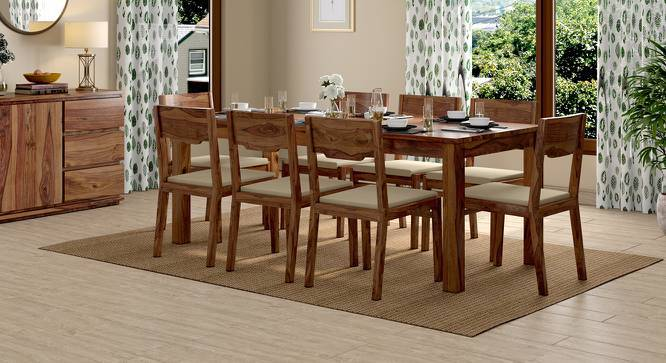Arabia XXL - Kerry 8 Seater Dining Table Set (Teak Finish, Wheat Brown) by Urban Ladder