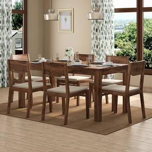 Brighton Large - Kerry 6 Seater Dining Table Set (Teak Finish, Wheat Brown) by Urban Ladder