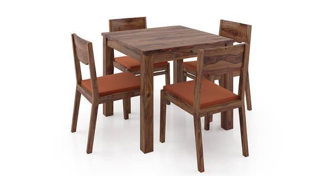 Arabia Storage - Kerry 4 Seater Dining Table Set (Teak Finish, Burnt Orange) by Urban Ladder