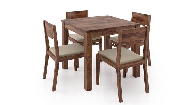 Arabia Storage - Kerry 4 Seater Dining Table Set (Teak Finish, Wheat Brown) by Urban Ladder