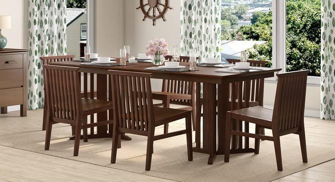 Angus XL 6 Seater Dining Set (Walnut Finish) by Urban Ladder