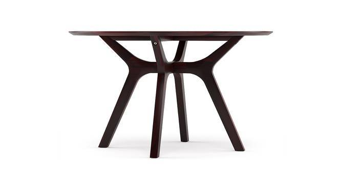 Antilo 4 Seater Round Dining Table (Mahogany Finish) by Urban Ladder