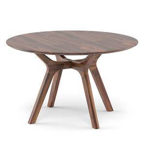 Antilo 4 Seater Round Dining Table (Teak Finish) by Urban Ladder