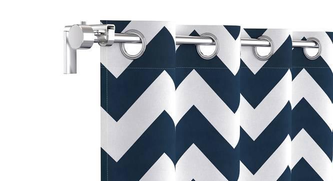 "Chevron Door Curtains - Set Of 2 (Blue, 54""x84"" Curtain Size) by Urban Ladder"
