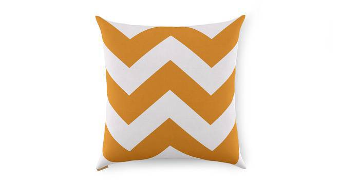 "Chevron Cushion Covers - Set Of 2 (Yellow, 16"" X 16"" Cushion Size) by Urban Ladder"