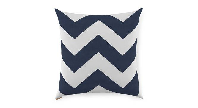 "Chevron Cushion Covers - Set Of 2 (Blue, 16"" X 16"" Cushion Size) by Urban Ladder"