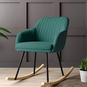 Rochelle Rocking Chair (Dark Aqua) by Urban Ladder