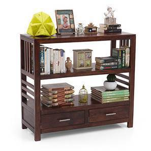 Carnegie Bookshelf/Display Unit (Walnut Finish)