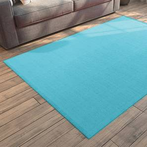"Solway Dhurrie (36"" x 60"" Carpet Size, Light Blue) by Urban Ladder"