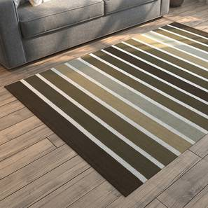 "Leto Dhurrie (Brown, 36"" x 60"" Carpet Size) by Urban Ladder"