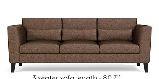 Lewis Sofa (Mocha, Fabric Sofa Material, Regular Sofa Size, Soft Cushion Type, Regular Sofa Type, Master Sofa Component)