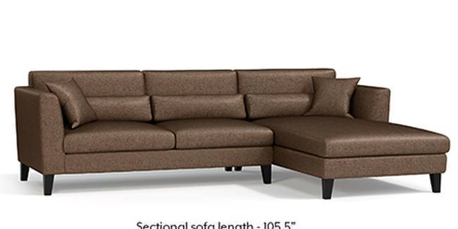 Lewis Sofa (Mocha, Fabric Sofa Material, Regular Sofa Size, Soft Cushion Type, Sectional Sofa Type, Sectional Master Sofa Component)