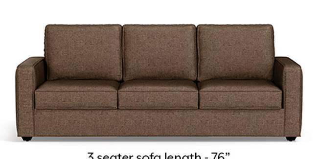Apollo Sofa Set (Mocha, Fabric Sofa Material, Compact Sofa Size, Soft Cushion Type, Regular Sofa Type, Master Sofa Component)