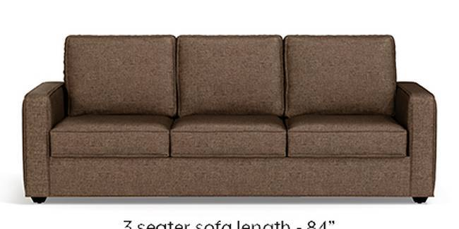 Apollo Sofa Set (Mocha, Fabric Sofa Material, Regular Sofa Size, Soft Cushion Type, Regular Sofa Type, Master Sofa Component, Regular Back Type, Regular Back Height)