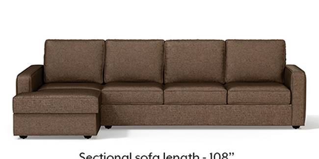 Apollo Sofa Set (Mocha, Fabric Sofa Material, Regular Sofa Size, Soft Cushion Type, Sectional Sofa Type, Sectional Master Sofa Component)