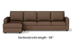 Apollo Sectional Compact Sofa (Mocha)