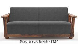 Serra Wooden Sofa (Smoke Grey)