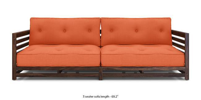 Raymond Low Wooden Sofa (Rust) (Rust, 1 Seater Custom Set