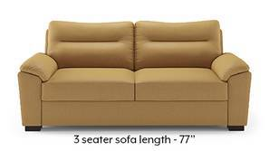 Adelaide Leatherette Sofa (Butterscotch)
