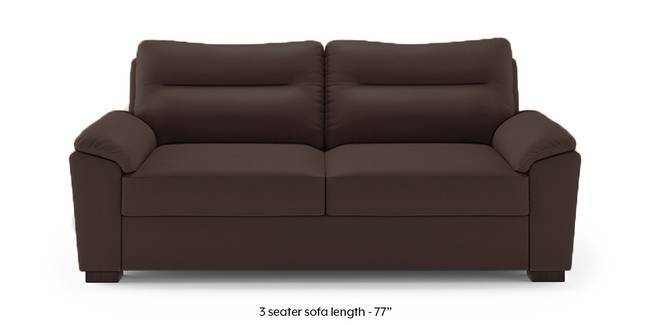 Adelaide Compact Leatherette Sofa (Chocolate) (Chocolate, 3-seater Custom Set - Sofas, None Standard Set - Sofas, Leatherette Sofa Material, Compact Sofa Size, Soft Cushion Type, Regular Sofa Type)
