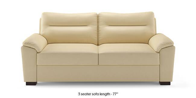 Adelaide Compact Leatherette Sofa (Cream) (Cream, 1-seater Custom Set - Sofas, None Standard Set - Sofas, Leatherette Sofa Material, Compact Sofa Size, Soft Cushion Type, Regular Sofa Type)