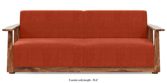 Serra Wooden Sofa - Teak Finish (Lava Rust) (1-seater Custom Set - Sofas, None Standard Set - Sofas, Lava, Fabric Sofa Material, Regular Sofa Size, Soft Cushion Type, Regular Sofa Type)