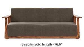 Serra Wooden Sofa - Teak Finish (Pine Brown)