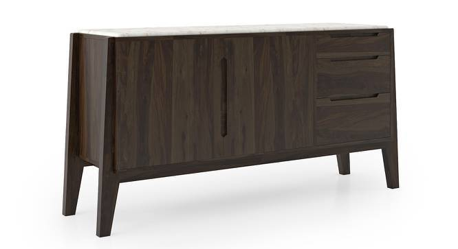 "Galatea 66"" Wide Marble Sideboard (American Walnut Finish) by Urban Ladder"