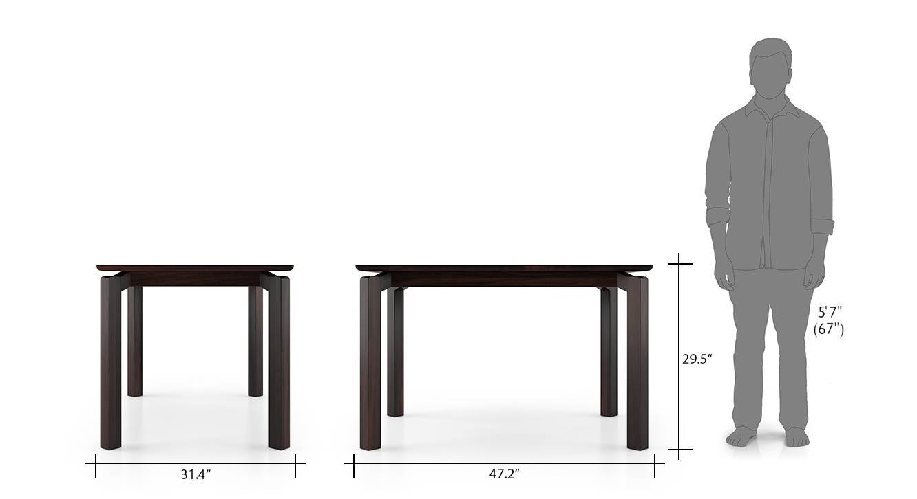 Catria 4 seater dining table 04