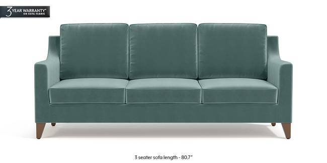 Abbey Sofa (Dusty Turquoise Velvet) (1-seater Custom Set - Sofas, None Standard Set - Sofas, Fabric Sofa Material, Regular Sofa Size, Regular Sofa Type, Dusty Turquoise Velvet)