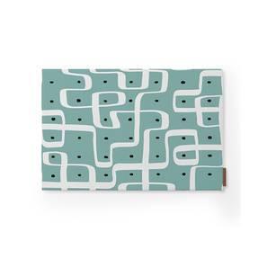 "Kolam Konnect Table Mats - Set of 6 (Blue, 12"" x 18"" Table Linen Size, Endless Maze Pattern) by Urban Ladder"