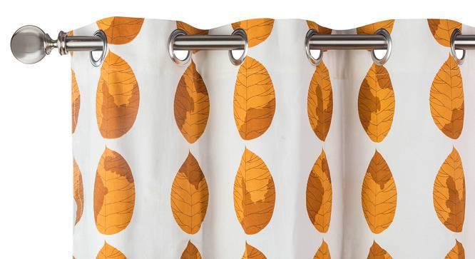 "Amoga Window Curtains - Set Of 2 (Amoga Ochre - Sunburst, 54"" x 60"" Curtain Size) by Urban Ladder"
