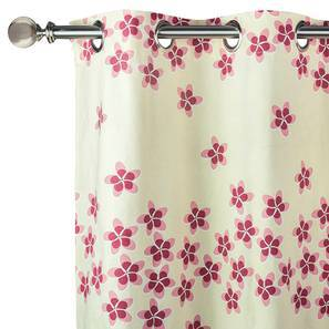"Frangipani Window Curtains - Set of 2 (Blush - Petal Bliss , 54"" x 60"" Curtain Size) by Urban Ladder"