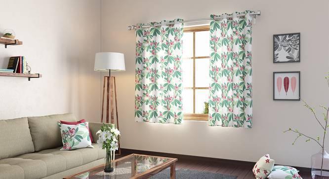 "Frangipani Window Curtains - Set of 2 (Blush - Summer Blooms , 54"" x 60"" Curtain Size) by Urban Ladder"