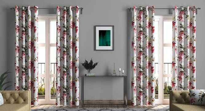 "Carmine Cassia Curtains - Set of 2 (Door Curtain Type, 54"" x 108"" Curtain Size) by Urban Ladder"