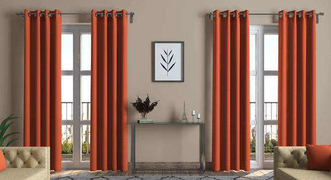 """Ethos Curtains - Set Of 2 (Amber, Door Curtain Type, 54"""" x 108"""" Curtain Size) by Urban Ladder"""