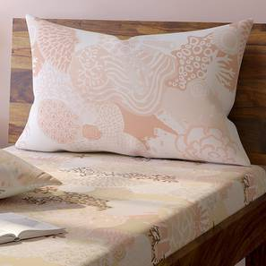 Caribbean Treasure Bedsheet Set (Single Size, Coral) by Urban Ladder