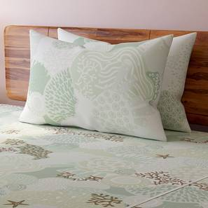 Caribbean Treasure Bedsheet Set (Double Size,  Seafoam Green ) by Urban Ladder