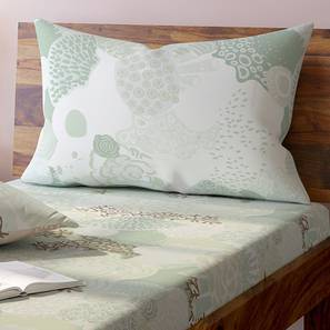Caribbean Treasure Bedsheet Set (Single Size,  Seafoam Green ) by Urban Ladder