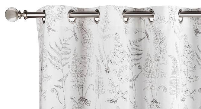 """Wilderness Window Curtains - Set Of 2 (54"""" x 60"""" Curtain Size, Wild Fern Grey) by Urban Ladder"""