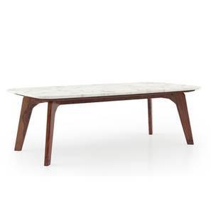 Galatea Marble Coffee Table (Teak Finish) by Urban Ladder