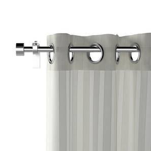 "Vonal Sheer Door Curtains - Set Of 2 (White, 54"" x 108"" Curtain Size) by Urban Ladder"